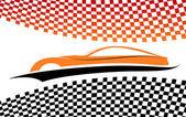 Red-orange car vector symbol, vector — Stock Vector