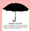 Umbrella in the rain — Stock Vector