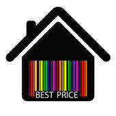 Best price HOUSE BARCODE — Stock Vector