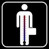 Símbolo de hombre de negocios bajo estrés, vector — Vector de stock