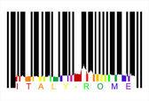 Italy rome barcode, vector — Stock Vector