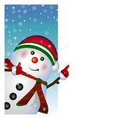 Snowman card. vector — Stock Vector