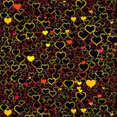 красочный фон день святого валентина — Cтоковый вектор