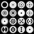 Set of gears, vector — Stock Vector