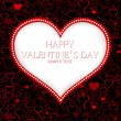 Valentines day card vector background — Vector de stock #31028235