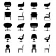 Set of Modern chair, vector — Imagen vectorial