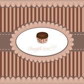 蛋糕卡、 矢量 — 图库矢量图片