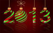 Año nuevo elegante 2013 de fondo, vector — Vector de stock