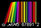 Colorful domino bar code — Stock Vector