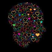 любовь haed — Cтоковый вектор