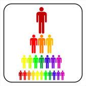 Organizational corporate hierarchy businessmen — Stock Vector
