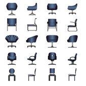 Modern sandalye ayarlamak, vektör — Stok Vektör