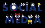 Caratteri di media sociali — Vettoriale Stock