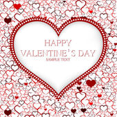 Valentines day card vector background — Vettoriale Stock