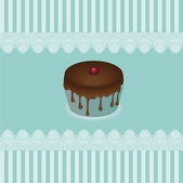 Cake cards, vector — Stock Vector