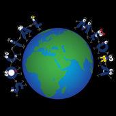 Caratteri di media sociali globali — Vettoriale Stock