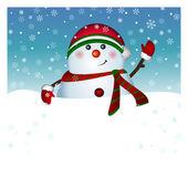 Cartão boneco de neve, vector — Vetorial Stock