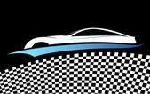 Blue car vector symbol, vector — Stock Vector