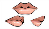 Hot Sensual Mouth, vector — Stock Vector