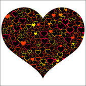 Colorful Valentine's day with hearts, vector — Vector de stock