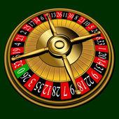 Roulette wheel, vector — Stock Vector