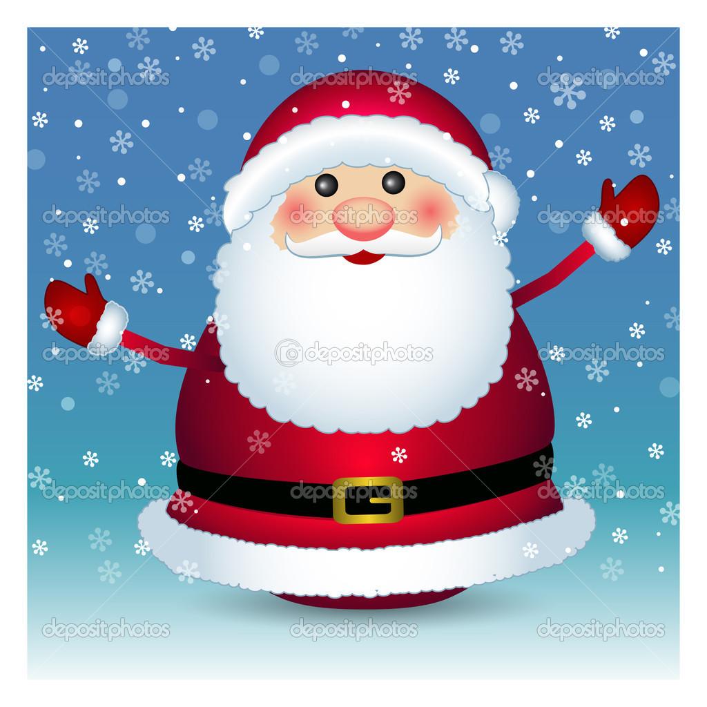 在白色的背景,圣诞老人矢量