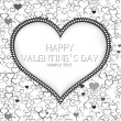 Stock Vector: Valentines day card vector background