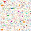 Colorful Valentine's day background with hearts, vector — Stock Vector #31031097