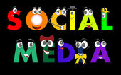 Social Media characters - network, vector — Vector de stock