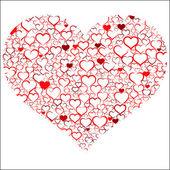 Colorato di San Valentino con cuori, vettoriale — Vettoriale Stock