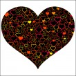 Colorful Valentine's day with hearts, vector — Imagen vectorial
