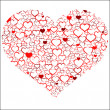 Red Valentine's day heart — Imagen vectorial