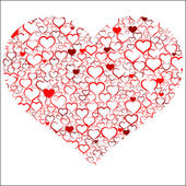 Red Valentine's day heart — Stockvector