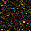Colorful Valentine's day background — Vektorgrafik