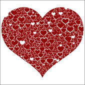 красные сердца валентина — Cтоковый вектор