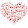 Red Valentine's day heart — Image vectorielle