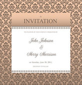 Invitation frame with sample text — Stock Vector