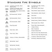 Standard Fire Symbols — Stock Vector