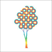 Colorful abstract tree — Stock Vector