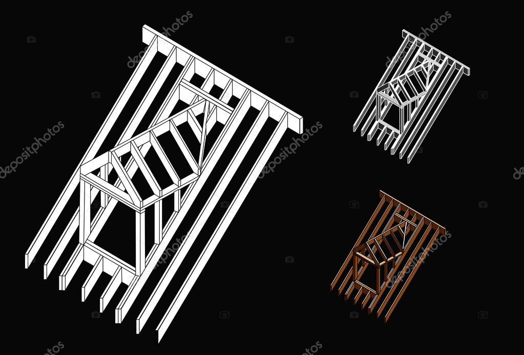 Lucarne de toit construction image vectorielle 32339201 - Lucarne de toit ...