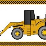 Loader excavator construction machinery equipment — Stock Vector #32340683