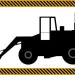 Loader excavator construction machinery equipment — Stock Vector #32341747