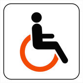 Disabled icon sign vector — Stock Vector