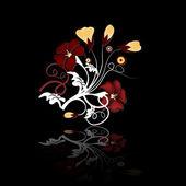 Kolorowy kwiatowy zestaw — Wektor stockowy