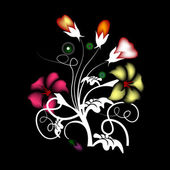 векторные цветочные набор — Cтоковый вектор