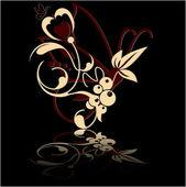 Vector floral set — Stock Vector