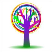 """Ecology tree """"HELP"""" — Wektor stockowy"""