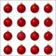 Set of Christmas ornament — Imagen vectorial