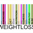 Weightloss text barcode — Stock Vector #32354791