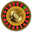 Stock Vector: Roulette wheel